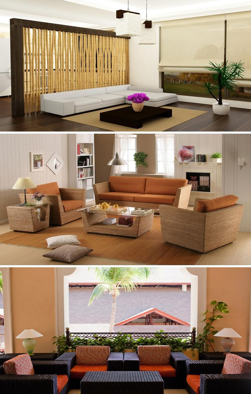 Las fibras naturales son ideales para decorar tu casa en for Casas decoradas con plantas naturales