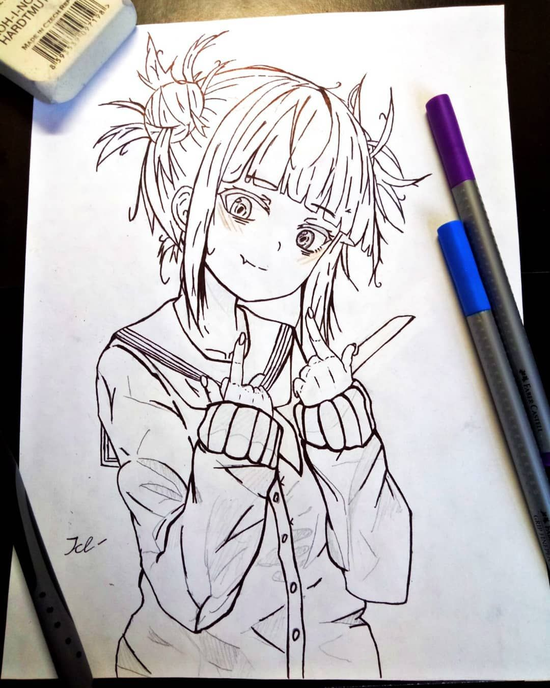 Himiko Toga My Hero Akademia Anime Art Animeart Kawaii Sketch Digitalart Traditionalart Japanesegirl Cute Bts Commissions O Anime Sketch Anime Art