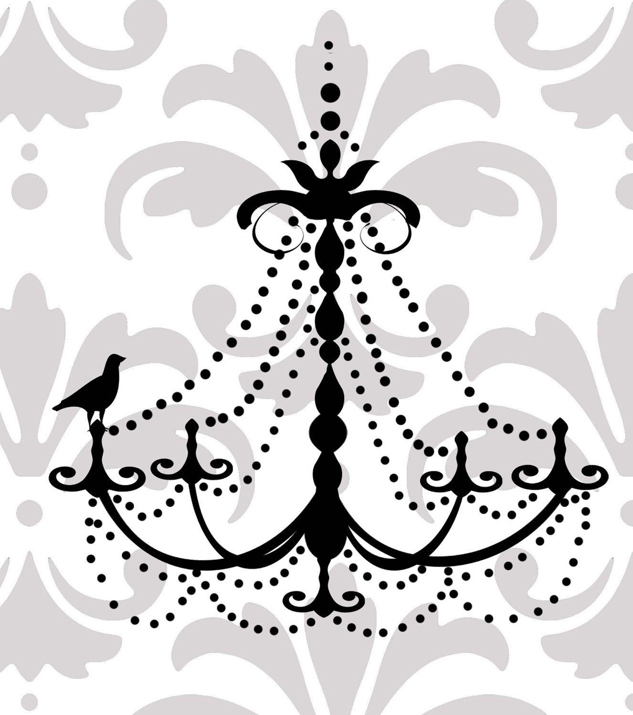 Chandelier vinyl wall decal kinda love fonts printables elegant chandelier vinyl wall decal aloadofball Choice Image
