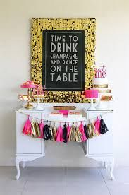 pink and gold birthday party theme - Google Search