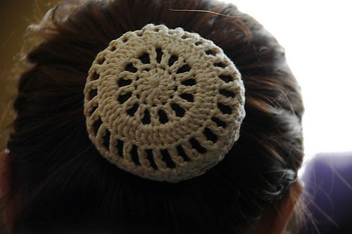 Ravelry: Lace and Stripes Hair Bun Cover pattern by Darah Martin ...