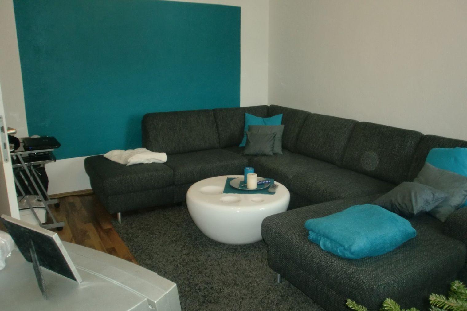 Wunderschöne Wohnzimmer Deko Grau Türkis Wohnzimmer Couch In