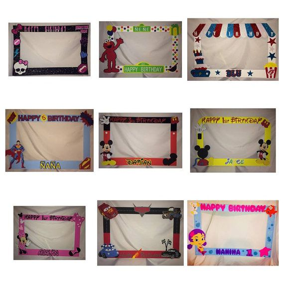 Hey, I found this really awesome Etsy listing at https://www.etsy.com/listing/173272285/photo-frame-party-prop-mickey-minnie