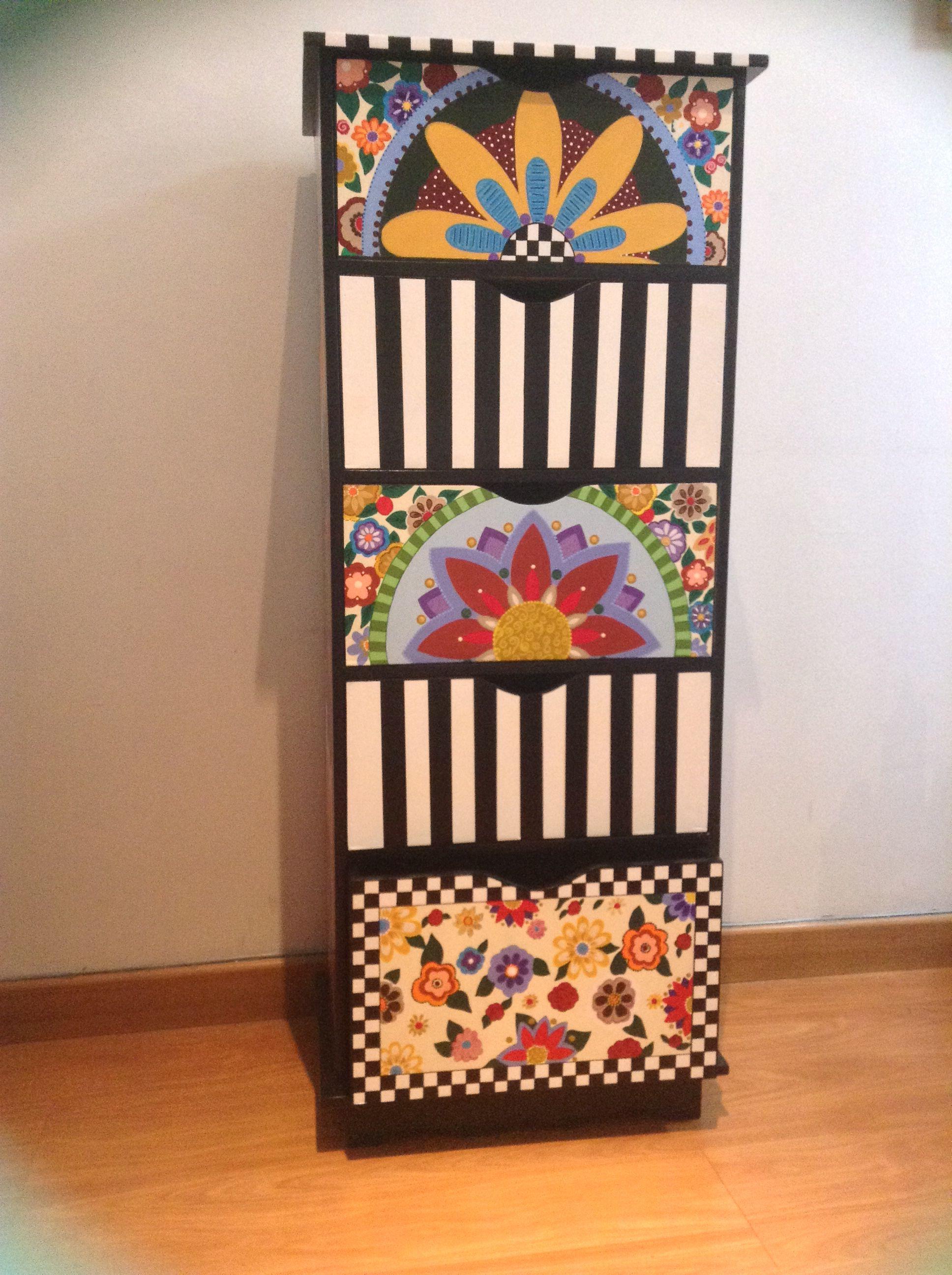 Mueble pintado a mano muebles pinterest muebles - Muebles de madera pintados a mano ...