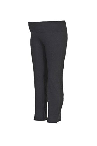 950cd1d28e279 Beachcoco Womens Maternity Lightweight Fold Over Comfortable Capri Lounge  Pants S Black ** You can get more details by clicking on the image.