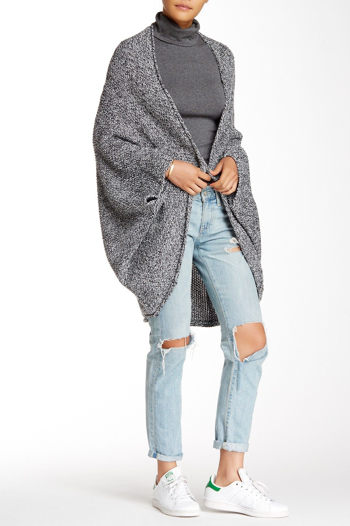 ASTR | Marled Open Front Cardigan (Juniors) | Nordstrom Rack  Sponsored by Nordstrom Rack.