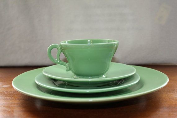 Franciscan El Patio Dinnerware Set In Apple Green By VintMod