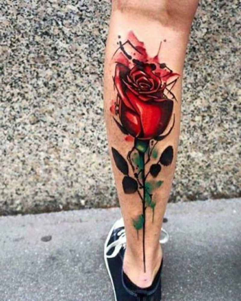 waden tattoo rose blumen tattoos for guys arm tattoos for guys best tattoos for women