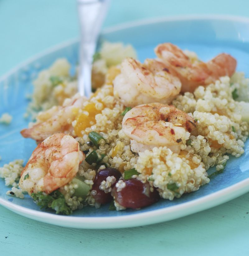 Jerk Shrimp with Caribbean Quinoa #jerkshrimp