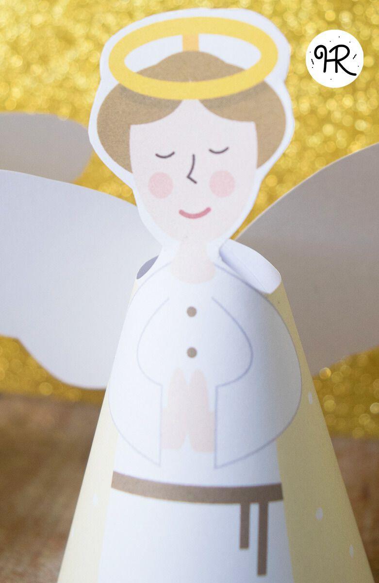 imprimible-angel-navidad | Imprimibles navideños | Pinterest ...