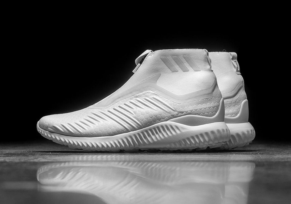 989c79d20 The adidas AlphaBOUNCE Zip Releases In  Triple White   A new pair for
