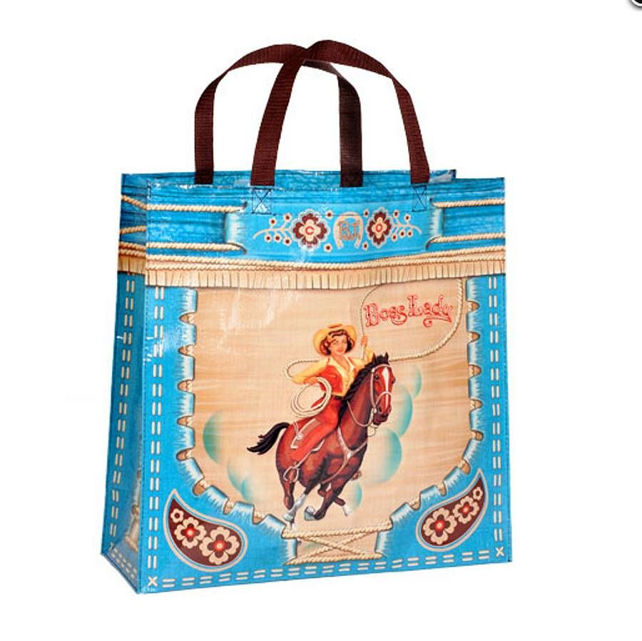 BlueQ is really fun. A selection of beautifully designed recycled shopper  bags. One size and material available in three patterns  Birds 8da6ffc31f4f1