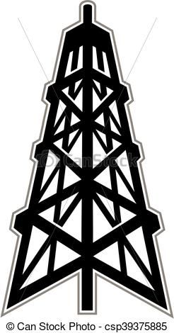 vector oil derrick stock illustration royalty free rh pinterest co uk Oil Derrick Clilpart Oil Derrick Clip Art Black and White