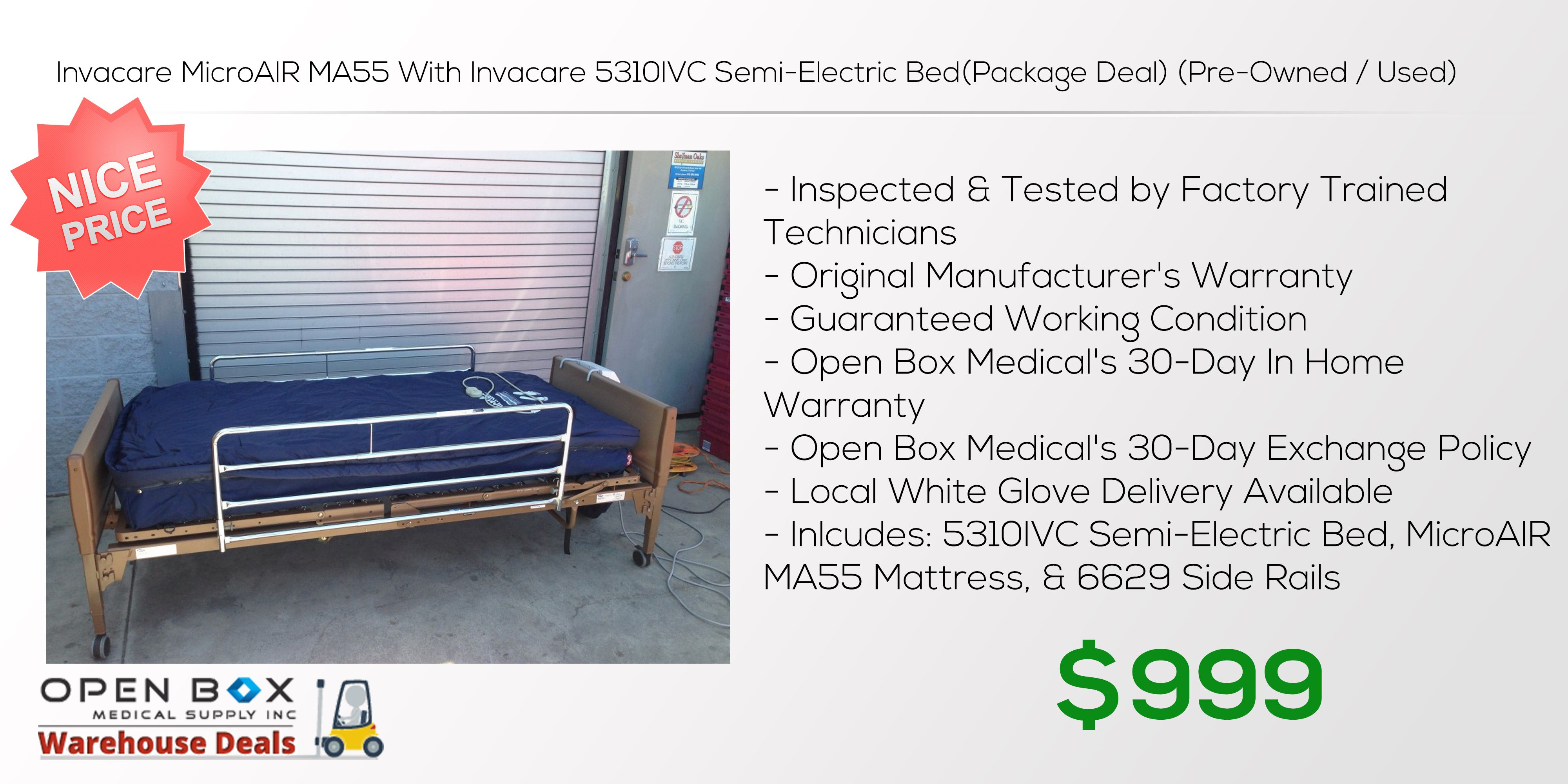 Invacare MicroAIR MA55 Electricity, Bed sores, Home warranty