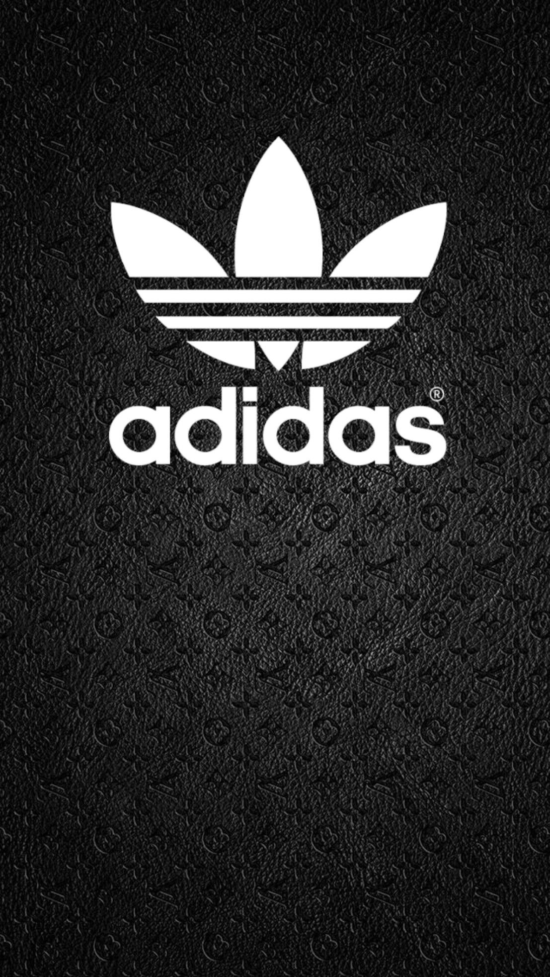 Adidas Logo White On Black BG Wallpaper/Background