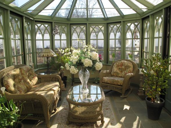 The conservatory this old english style glass room was for Glass rooms conservatories