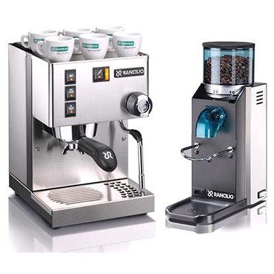 Rancilio Silvia With Rocky Doserless Grinder Espresso Kaffee Espressokocher Espresso