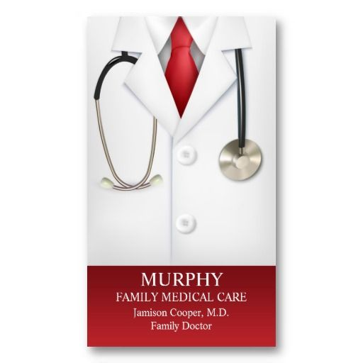 Medical doctor physician with appointment business card for Doctors business cards