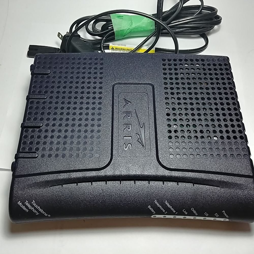 Used & Working ARRIS Cable Modem Model: TM602G/115 With the Power ...