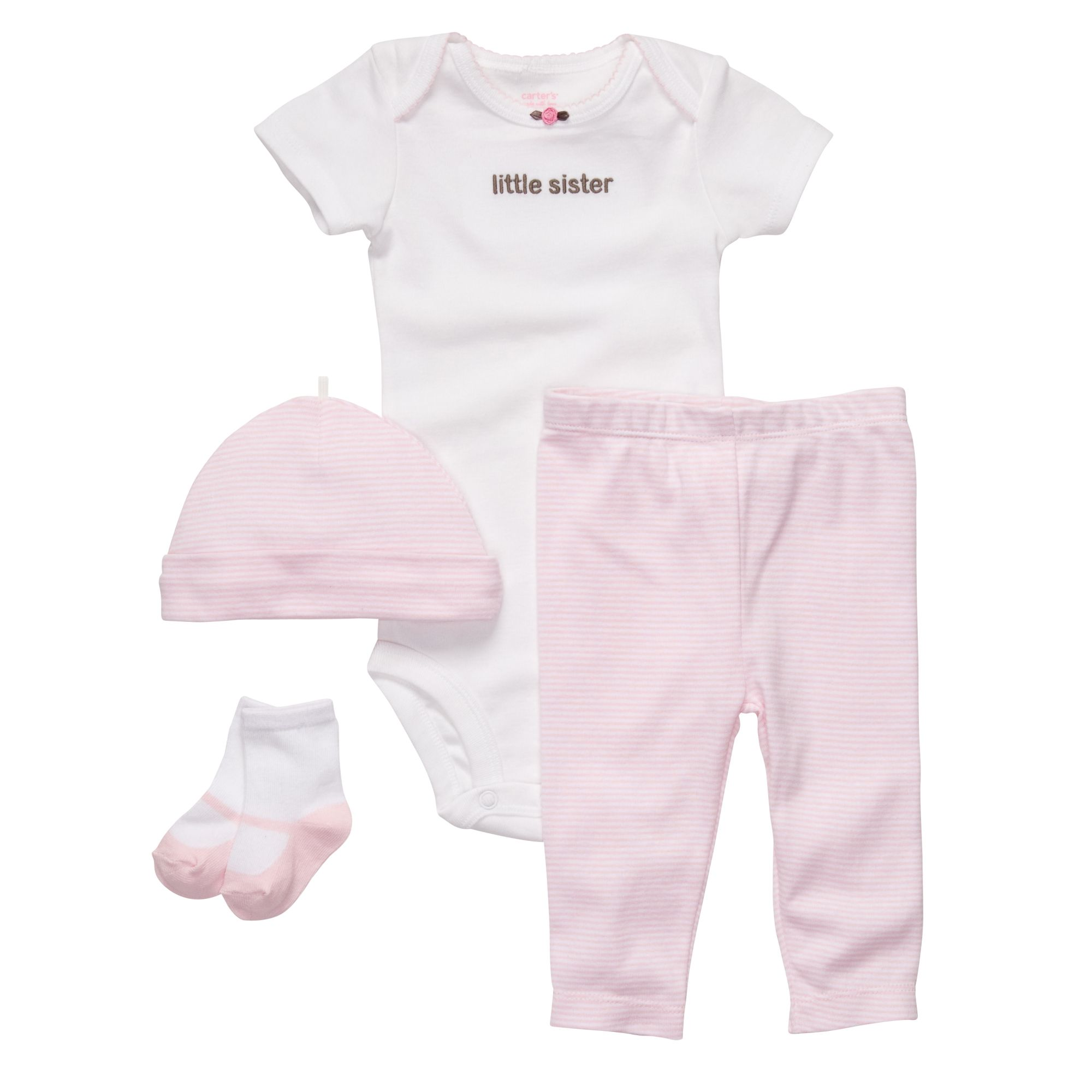 6dc7ab30d I love this Carter's little sister 4-piece outfit so much I just bought my  girls it again, in a larger size.