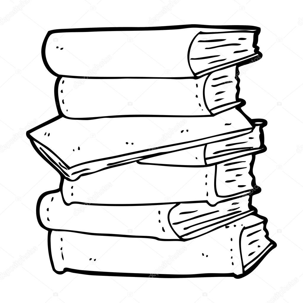 Download Cartoon Pile Of Books Stock Illustration 38440695 Pile Of Books Book Drawing Books