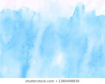 Wet Ink Effect Sky Blue Color Watercolor Background Creative