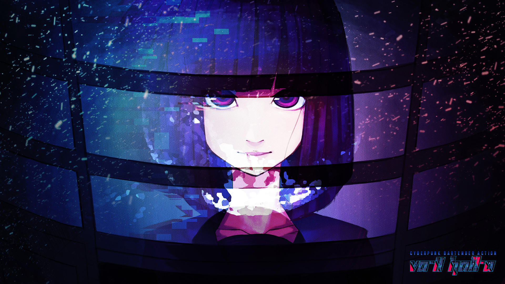 Va 11 Hall A Anna Hq Backgrounds Hd Wallpapers Gallery Gallsource Com アニメ