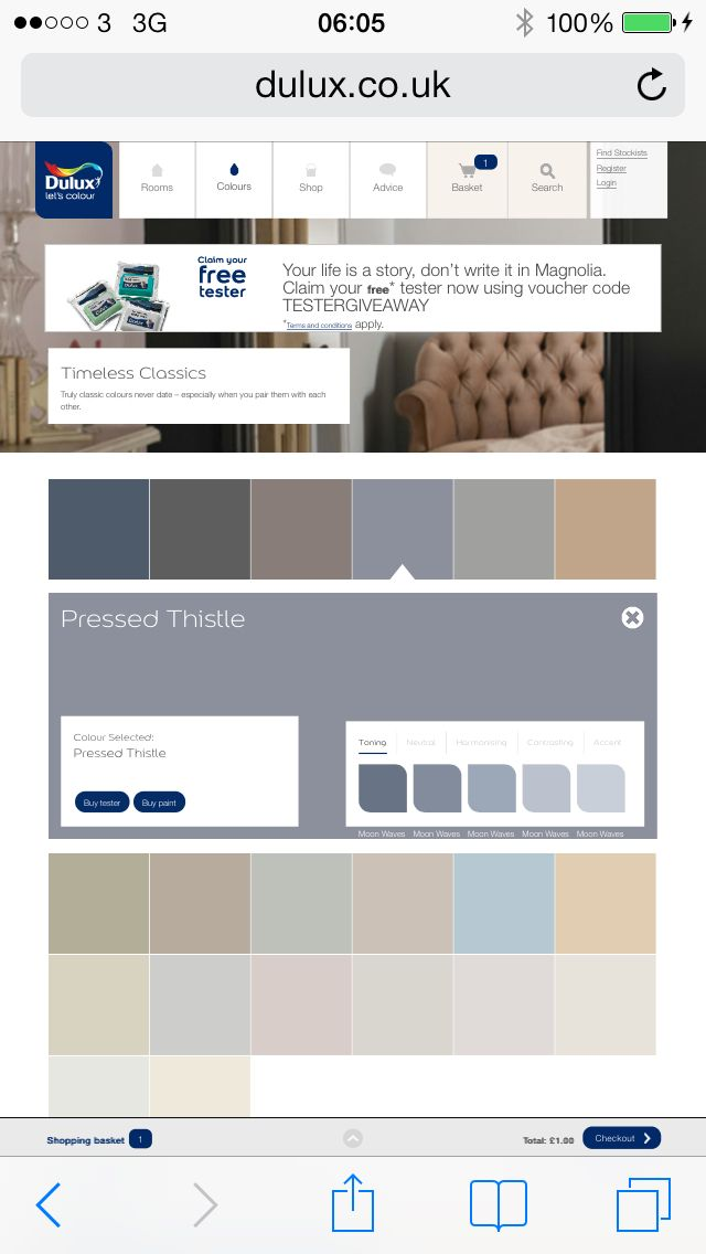 Dulux pressed thistle grey pallet Paint color schemes