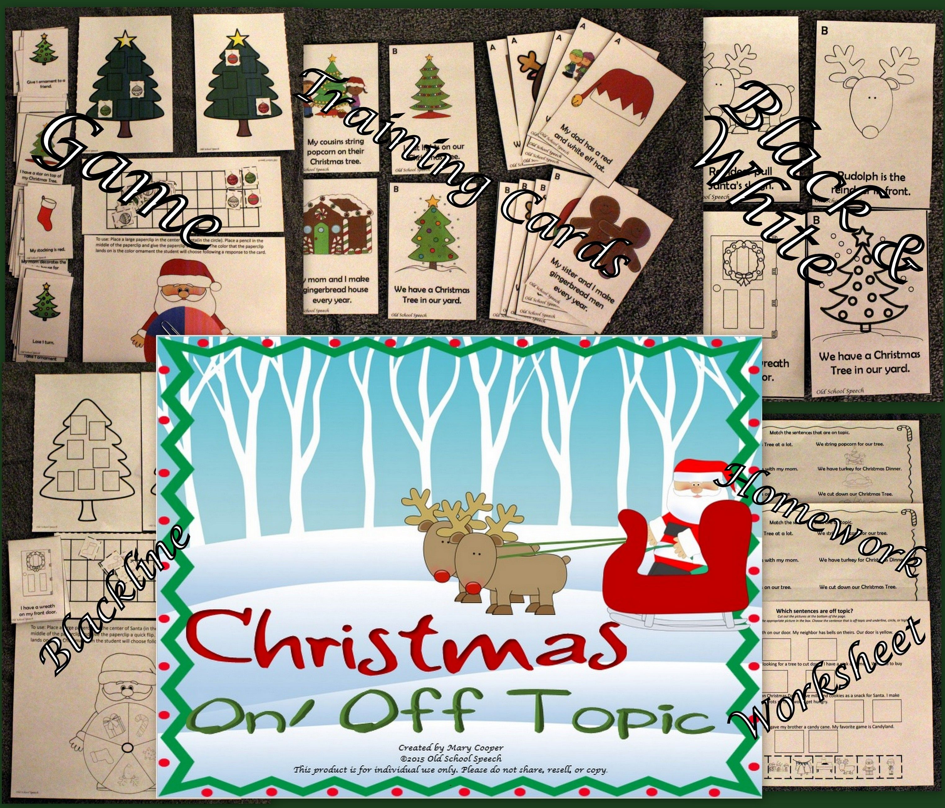 Christmas On/Off Topic | TpT Favs for Speech and Language Activities ...
