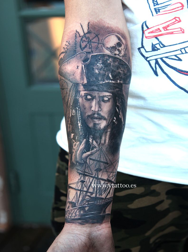 Captain jack sparrow v tattoo tattoo mix pinterest for Captain jack sparrow tattoo