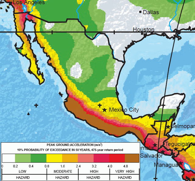 The World S Major Earthquake Zones Art In Mexico Pinterest
