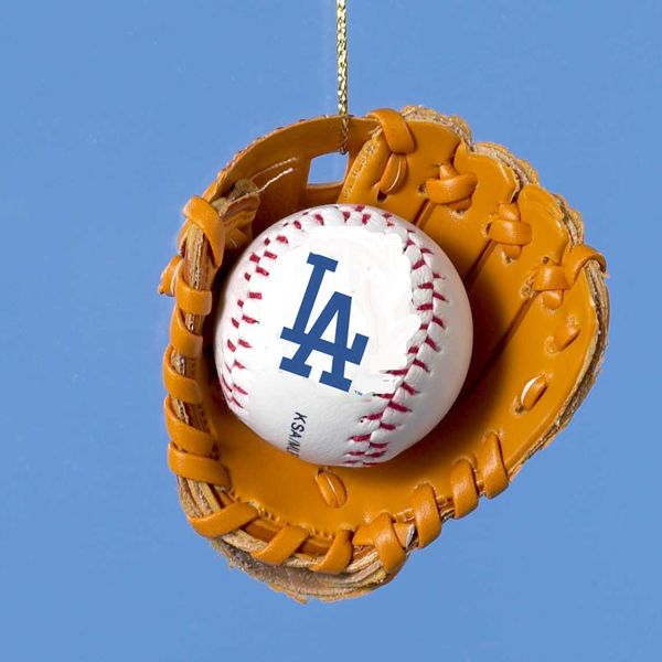 Dodgers Baseball In Glove Ornament Item Mb9804lad Ladodgersornaments New York Mets Baseball Christmas Ornaments Twins Baseball
