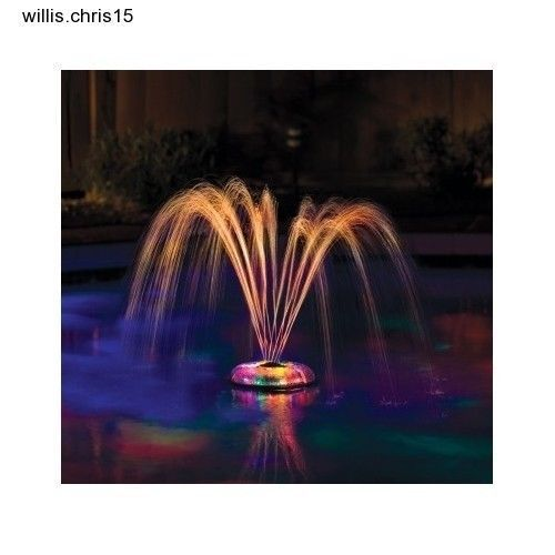 The Underwater Light Show and Fountain reflects vivid colors that can enhance any pool. The pool floor is illuminated while water gracefully projects out of the unit as it floats above the water. Use the Underwater Light Show and Fountain to add light to a quick night dip or use its fountain as a simple water feature that's a great centerpiece to any backyard evening event.