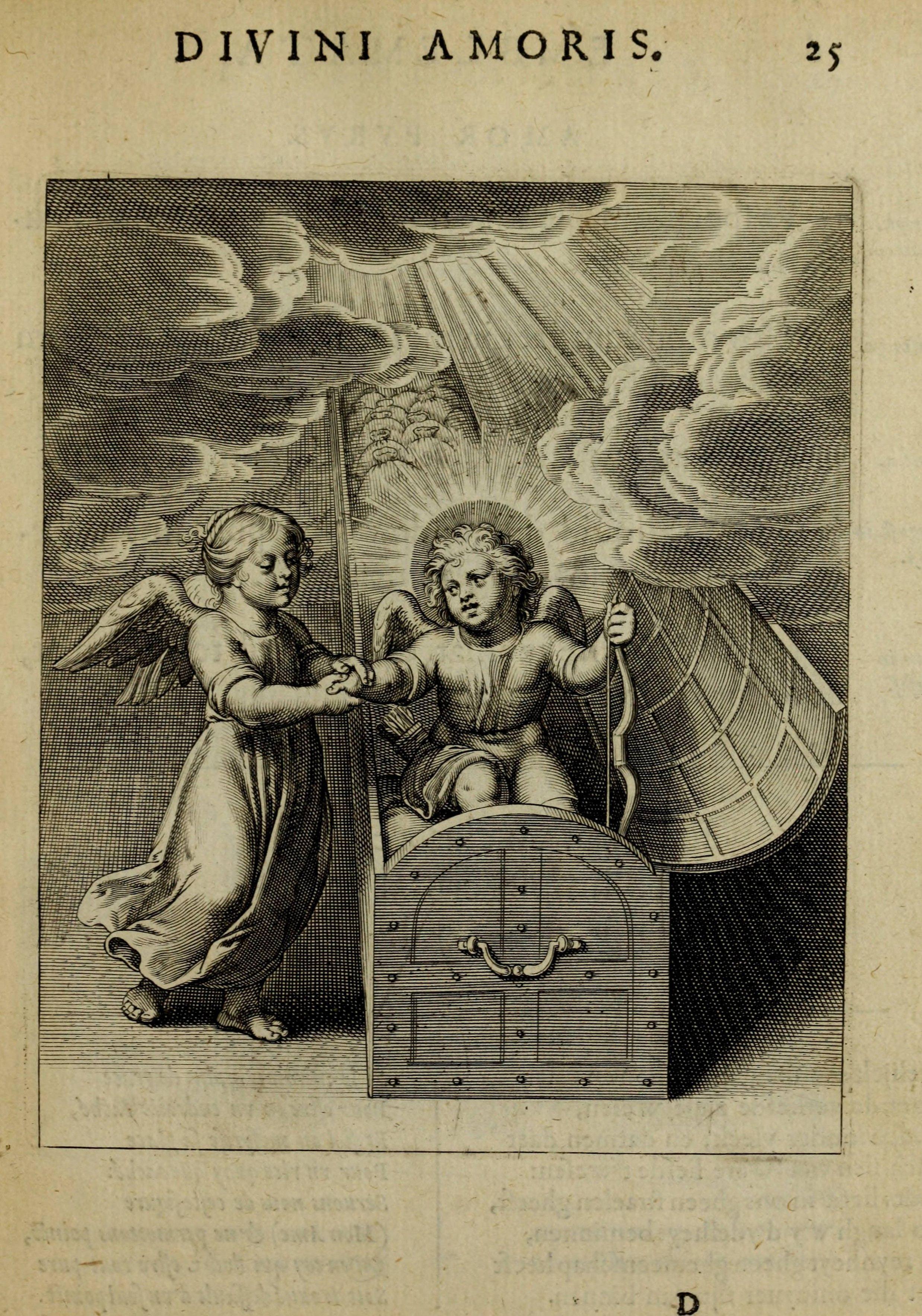 Corn Van Dijck.Amoris Diuini Emblemata 1615 Authored By Otto Van Veen 1556 1629