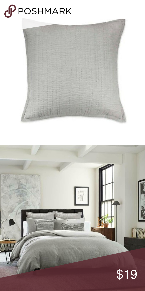 Kenneth Cole Ny 1 Dovetail Pillow Sham In Gray Pillow Shams Bed Pillows Sham