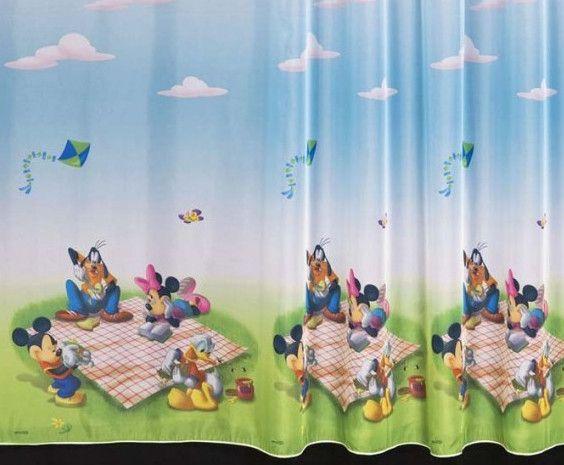 Las cortinas de disney para la decoraci n de habitaciones for Decoracion cuartos de bano