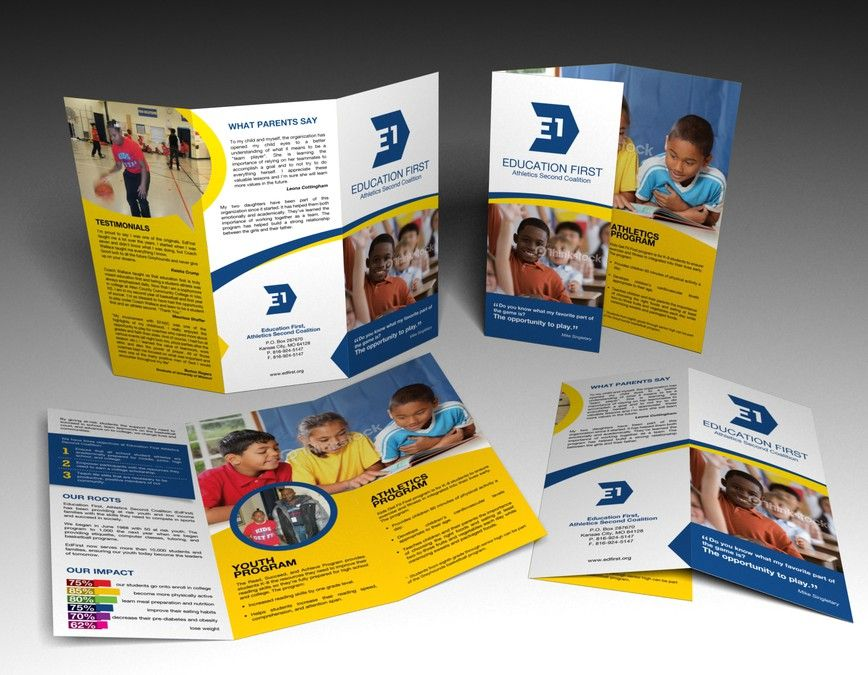 freelance brochure design for Education First Athletics Second Coalition by --Hero