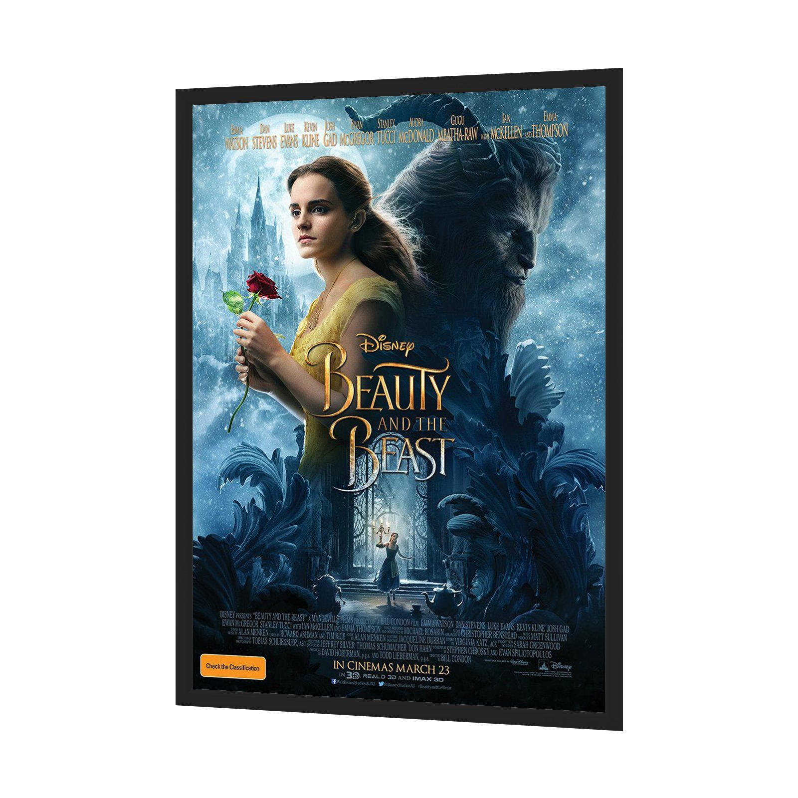 black movie poster frame 27x40 inches 12 aluminum profile front loading snap display - Movie Poster Frames 27x40