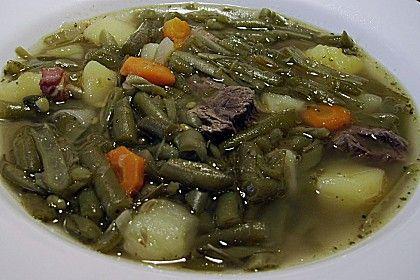 Omas grüne Bohnensuppe