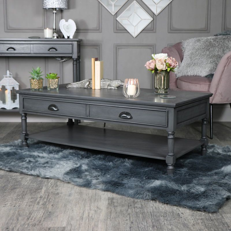 Large Dark Grey Coffee Table Lancaster Range Interiordecor Interiordesign Homware Home Quality Living Room Furniture Chic Bedroom Decor Retro Home Decor