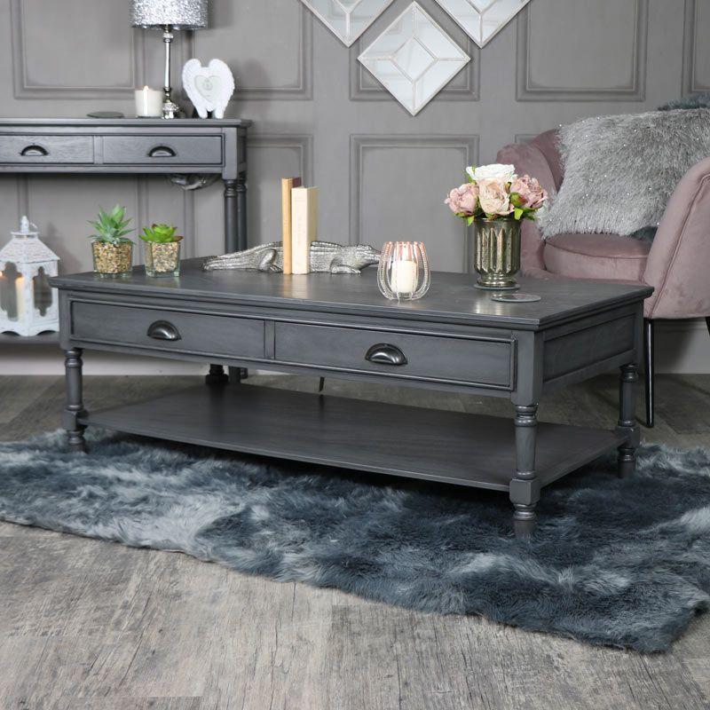 Large Dark Grey Coffee Table Lancaster Range Interiordecor