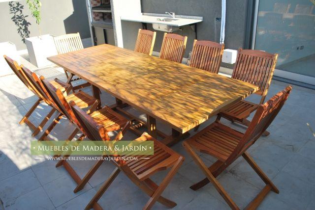 Sillas y mesas terraza mesas pinterest mesas para - Mesas terraza madera ...