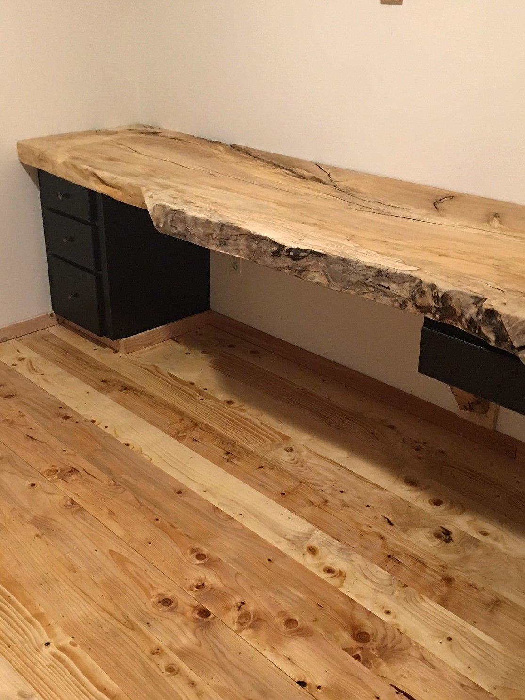 Live Edge Wood Slab Desk Top Office Or Home Slab Desk Live Edge Desk Wood Slab