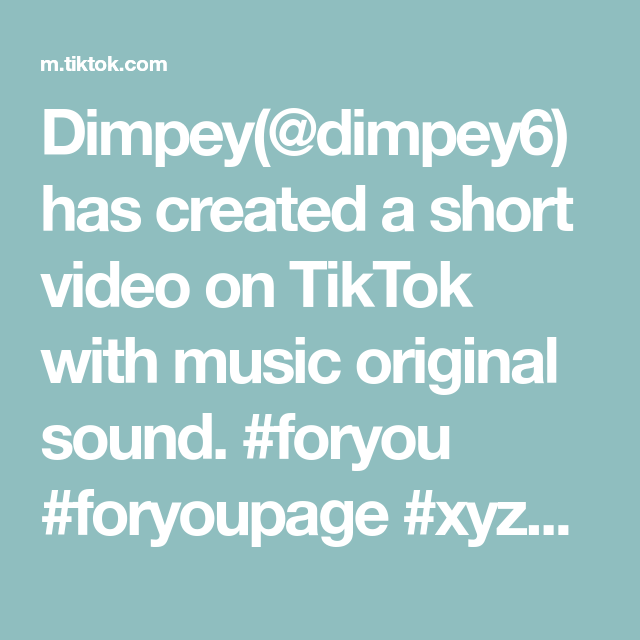 Dimpey Dimpey6 Has Created A Short Video On Tiktok With Music Original Sound Foryou Foryoupage Xyzbca Fyp Disney Little The Originals Up King Fortnite