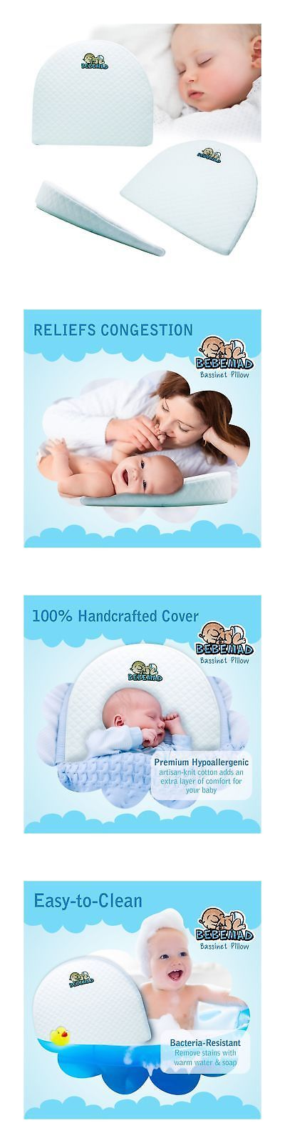 Baby Anti Reflux Wedge Pillow Colic Cushion For Pram Cushion Bass Flat Head Foam