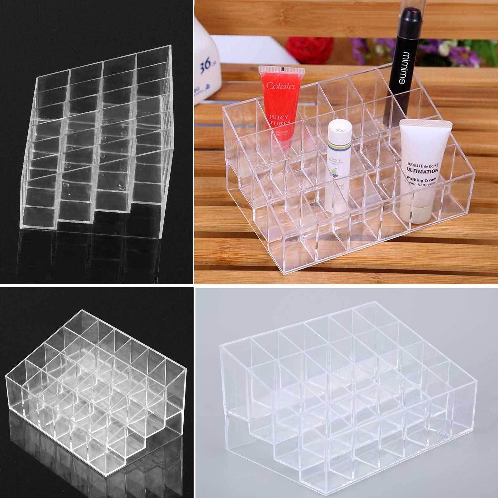 24 Makeup Cosmetic Lipstick Storage Display Stand Rack Holder Organizer