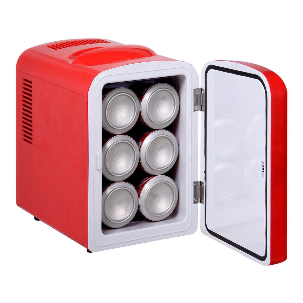 Portable Mini Fridge Cooler And Warmer Auto Car Boat Home Office AC U0026 DC Red