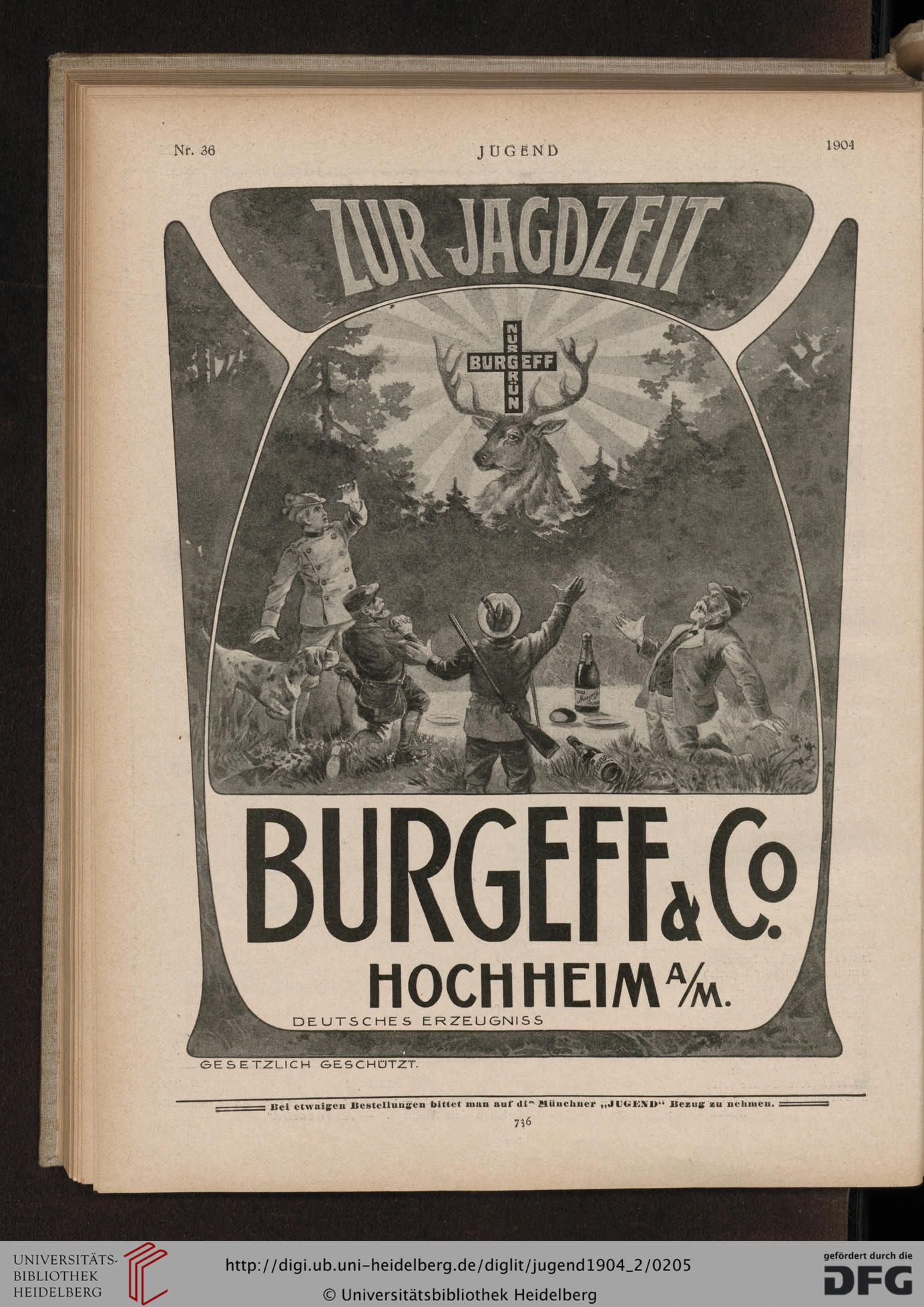 Jugend, German illustrated weekly magazine for art and life, Volume 9.2, 1904.