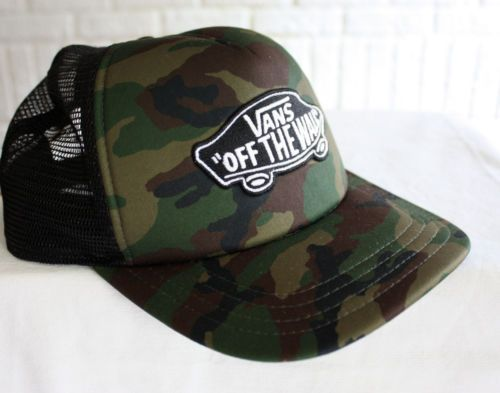 VANS-Classic-Patch-Army-Camo-Trucker-Cap-Hat-Skateboarder-Style-One-Size 42050b15138