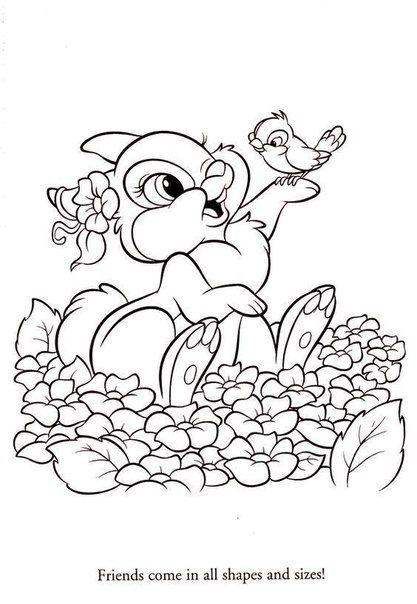 Thumper Rabbit Coloring Pages Google Search Burlap T